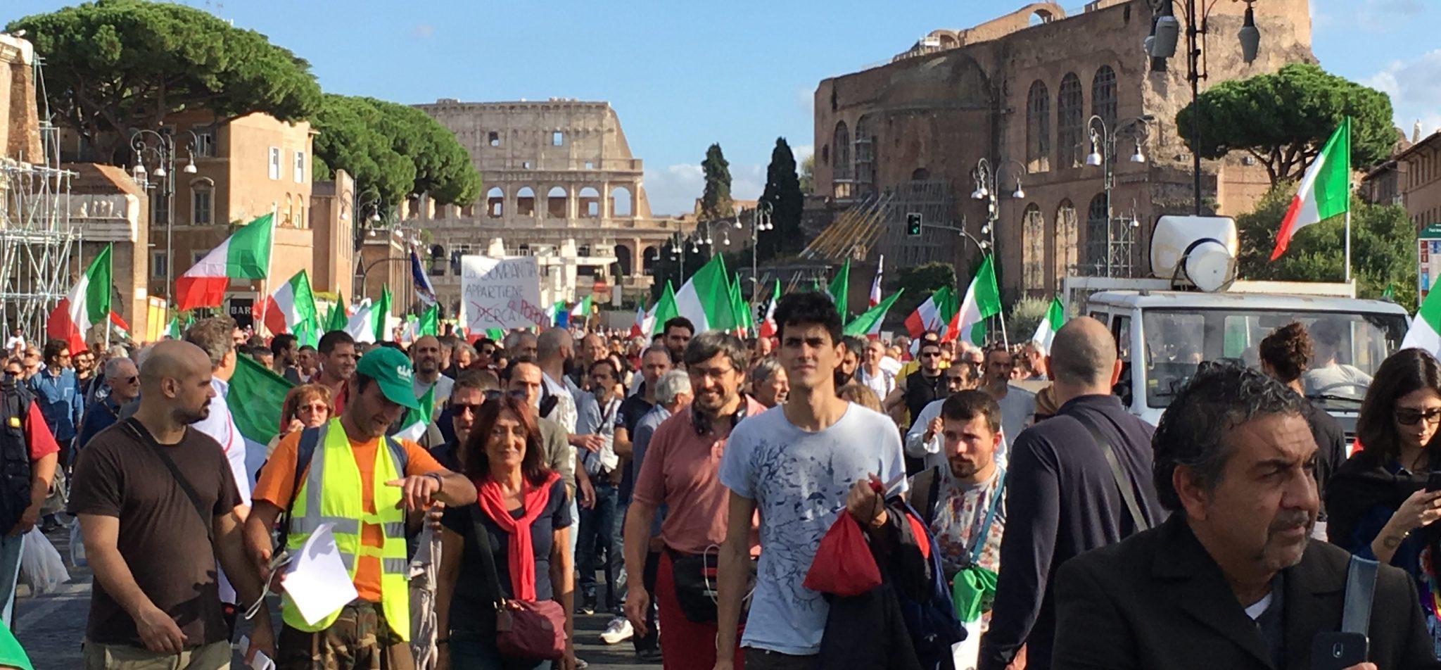 manifestazione 12 Ottobre Roma