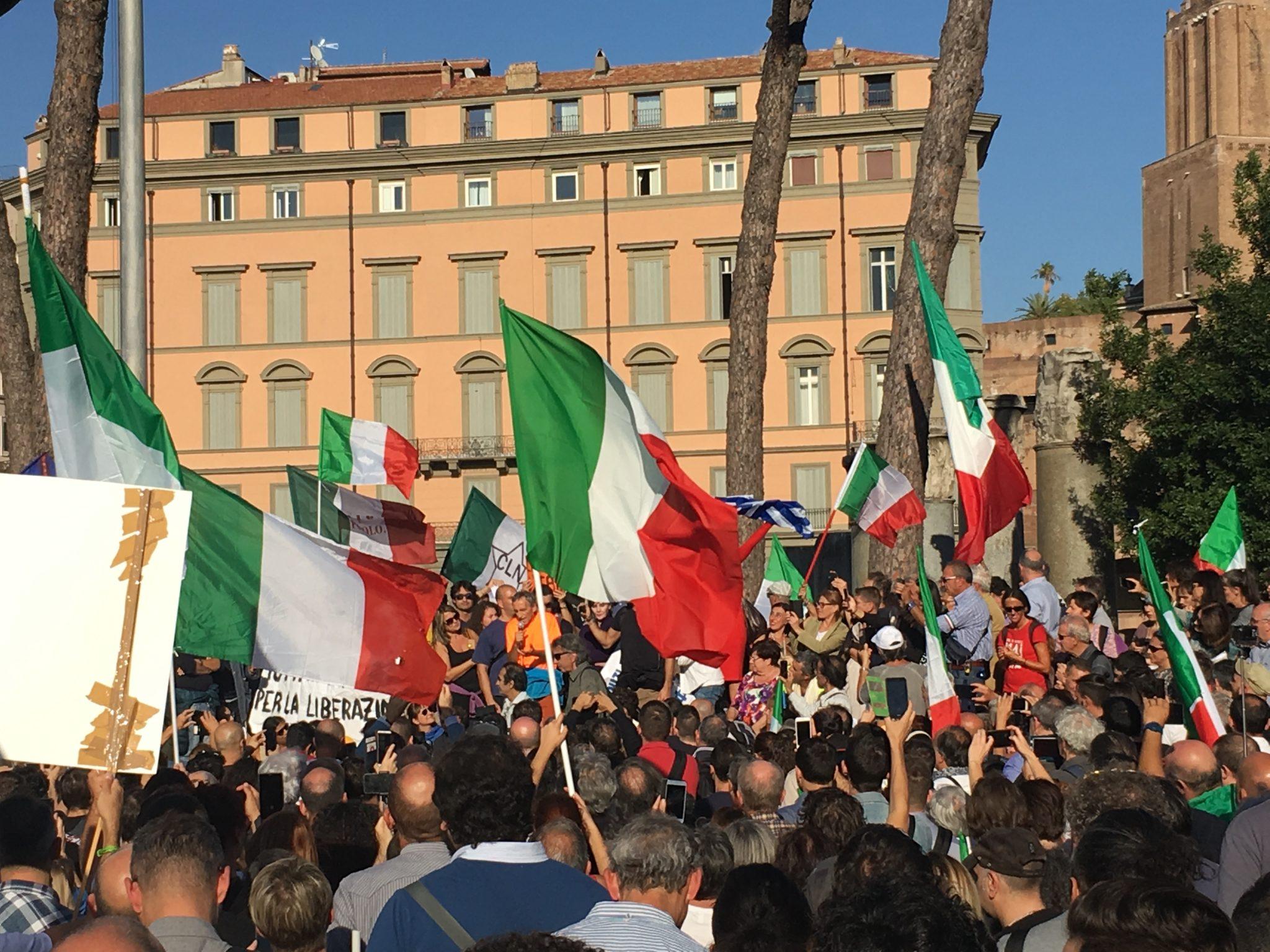 Manifestazione 12 0ttobre Roma